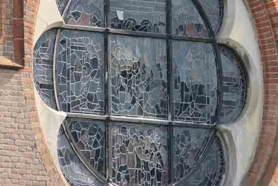 Buitenaanzicht Glas in lood raam<br><br> 0060_Urbanuskerk_Bovenkerk_5976.jpg
