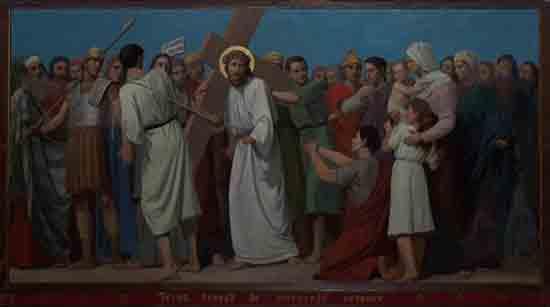Kruisweg 8. Jezus troost de weenende vrouwen<br><br> 5008_Kruiswegstaatsies_4588.jpg