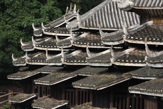 Chengyang Detailopname van een Regen en Wind brug<br><br> 1480_2121.jpg