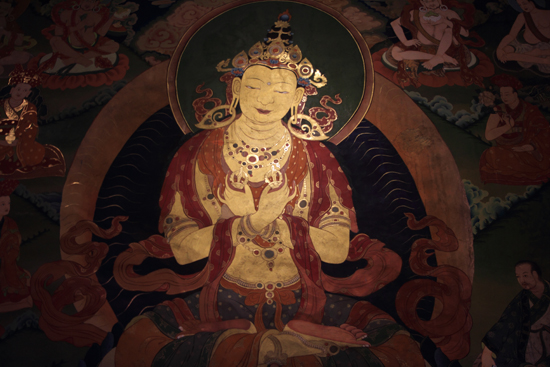 Shey Hemis klooster<br>Bijzonder fraaie muurschildering<br><br> 2990-Hemis-klooster-Ladakh-4688.jpg