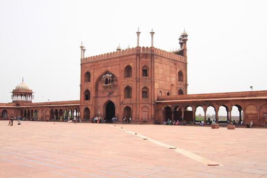 Ladakh-Delhi Volgens zeggen de grootste moskee van India<br><br> 3940-Jama-Mashid-Delhi-5159.jpg