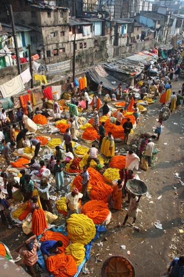 Kolkata1 Colourful and fragrant Mullik Ghat flower market Kleurrijke en geurige Mullik Ghat bloemenmarkt 1540_2977.jpg