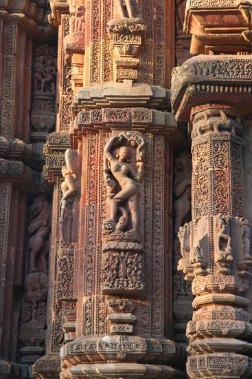 Bhubaneshwar Nice carvings Prachtig beeldhouwwerkgeaccentueerd door het mooie avondlicht 2020_4349.jpg