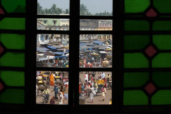 Puri View from the roof of Raghunandan Library Uitzichten vanaf het dak van de Raghunandan Library 3700_5878.jpg