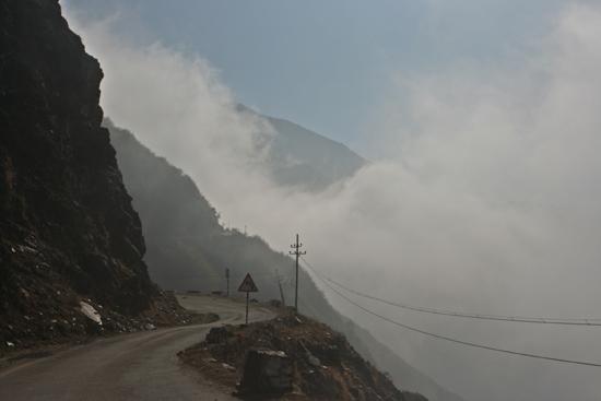 Gangtok Bij de start was het nog zwaar bewolkt…<br><br> 0860_3904.jpg