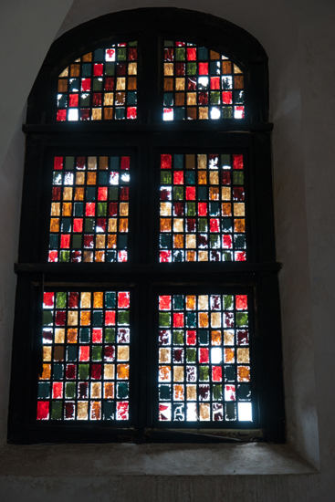 Galle Nederlands Hervormde kerk  Fraai gebrandschilderd raam-0540