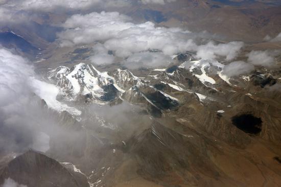 Prachtig uitzicht op de Himalaya tijdens de vlucht  van Kathmandu-Nepal naar Lhasa-Tibet-0720