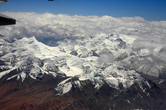 Prachtig uitzicht op de Himalaya tijdens de vlucht  van Kathmandu-Nepal naar Lhasa-Tibet-0730