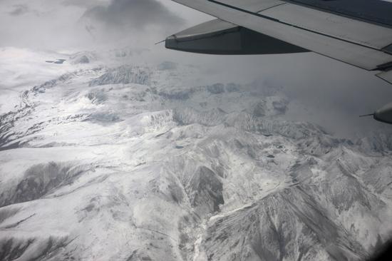 Prachtig uitzicht op de Himalaya tijdens de vlucht  van Kathmandu-Nepal naar Lhasa-Tibet-0750
