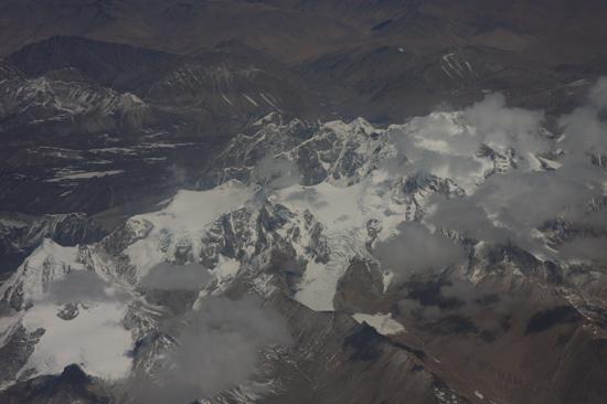 Prachtig uitzicht op de Himalaya tijdens de vlucht  van Kathmandu-Nepal naar Lhasa-Tibet-0830